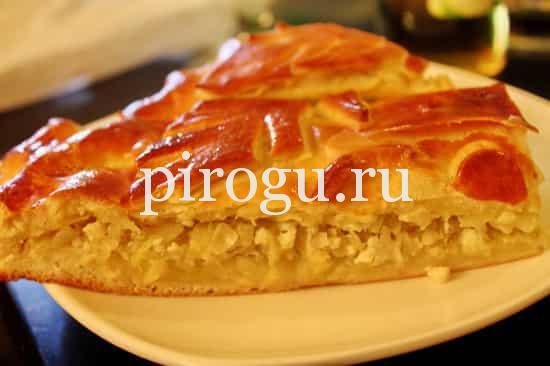 Пирог с капустой и рыбой без дрожжей рецепт с пошагово в духовке