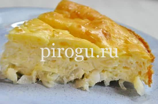 Пирог с капустой на сметане и майонезе рецепт с фото пошагово