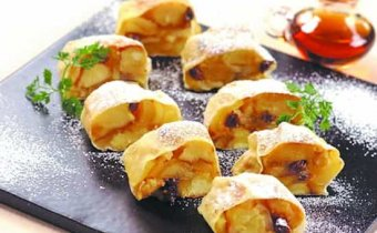 рецепт яблочного штруделя