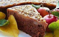 рецепт шоколадного кекса с яблоками