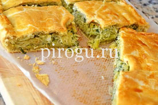 рецепт ленивого пирога с капустой