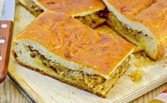рецепт пирога с капустой и грибами
