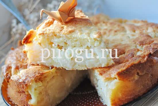 Пирог из творога рецепт с в духовке