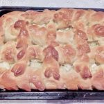 Яблочный пирог с творогом в мультиварке