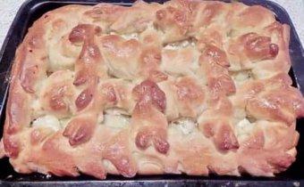 рецепт пирога с творогом и яблоками