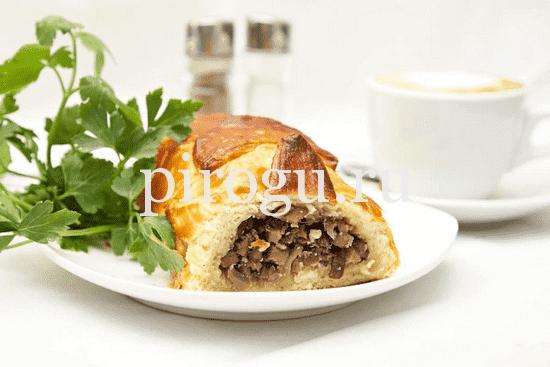 рецепт кулебяки с мясом и грибами