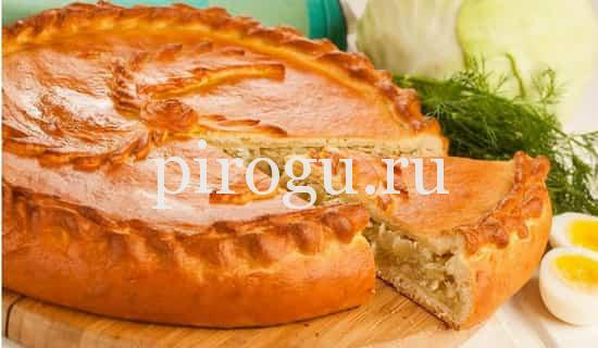 пироги с капустой и мясом из дрожжевого теста рецепты с фото