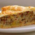 рецепт грибного пирога в мультиварке
