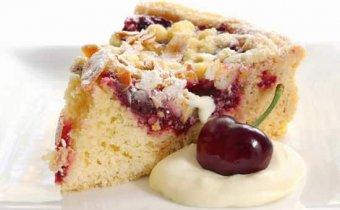 рецепт пирога с творогом и вишней
