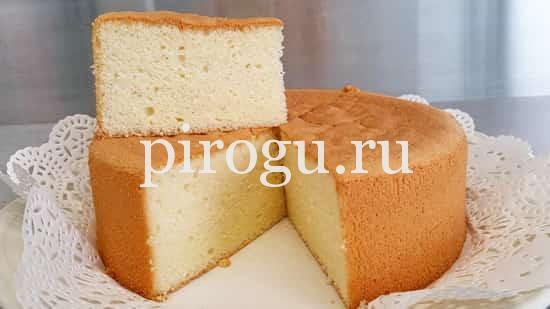 рецепт пышного бисквита