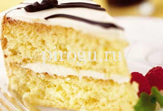 Простой бисквит для торта в духовке