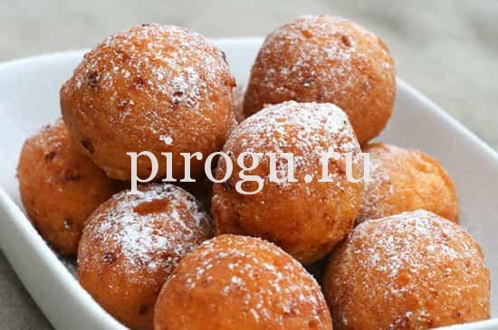 Пончики из творожного теста, жареные на сковороде
