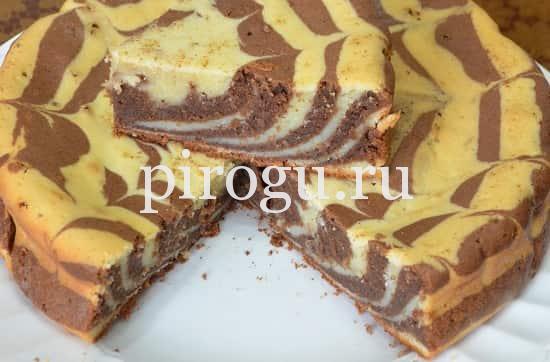 Пирог зебра классический рецепт с фото пошагово