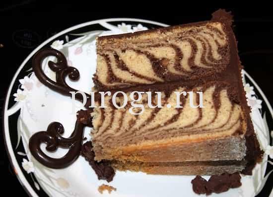 Пирог зебра на молоке рецепт с фото