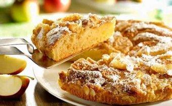 Рецепт шарлотки с яблоками и орехами