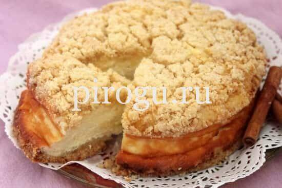 Рецепт королевской ватрушки с яблоками