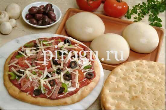Рецепт тесто на пиццу с кислого молока