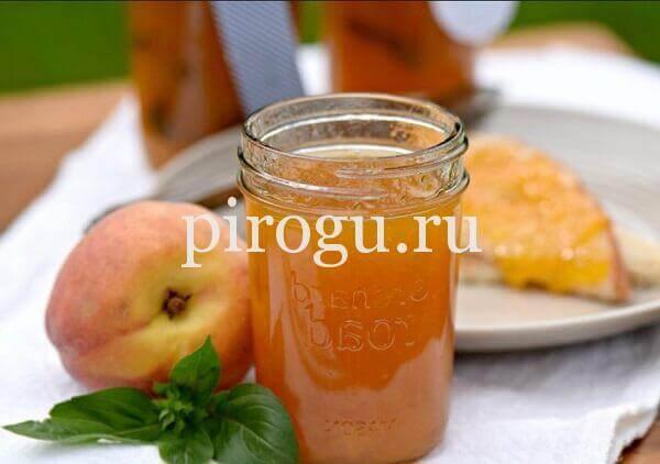 варенье из персиков без косточек простой рецепт пятиминутка