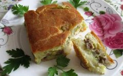 Пирог с кабачками на скорую руку в духовке - рецепт с фото