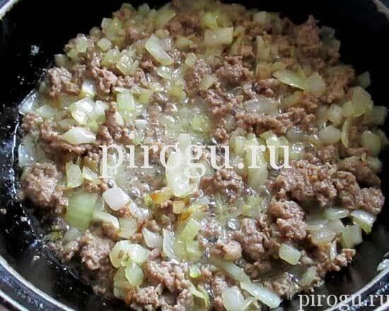 Пирог с кабачками и мясом