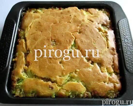 Вкусный заливной пирог с кабачками в духовке