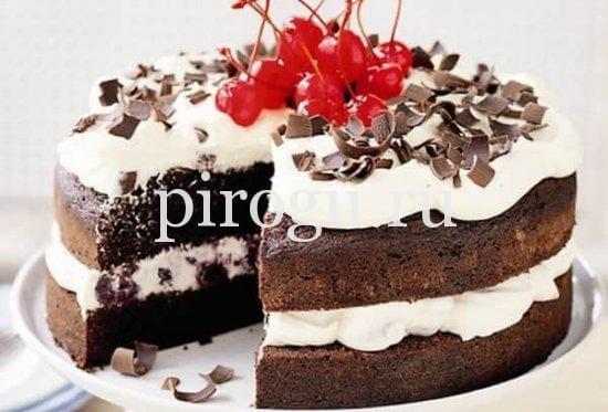 Вишневый пирог бисквитный