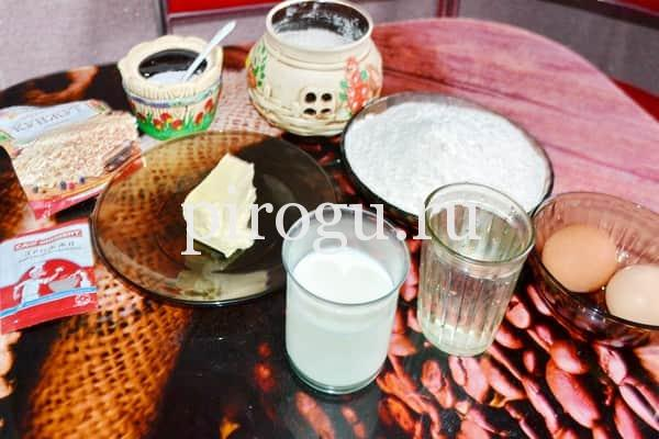 Ингредиенты для булочек с кунжутом