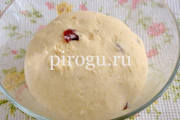 Быстрое дрожжевое тесто для кулича в духовке
