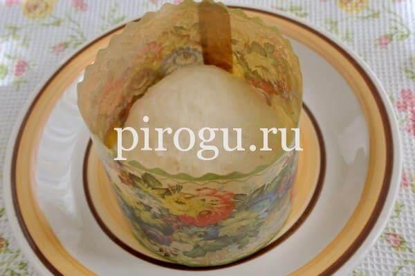 Пасхальный кулич в формк