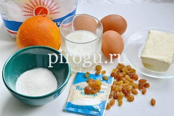 Пасхальный кулич с апельсиновой цедрой ингредиенты