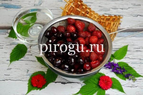 Варенье из черешни с клубникой на зиму