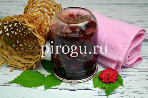 Варенье из черешни и клубники на зиму в литровых банках