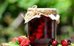 Варенье из черешни и клубники на зиму