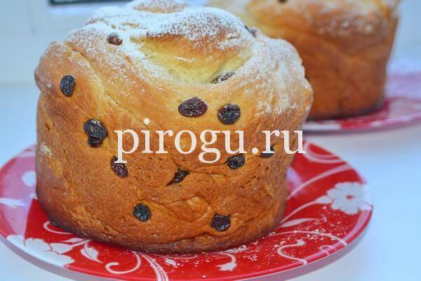 Кулич Краффин с изюмом: пошаговый рецепт с фото