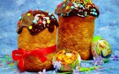 Кулич с шоколадной глазурью: быстрое тесто из холодильника