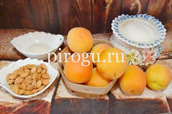 Ингредиенты для варенья из абрикосов без косточек