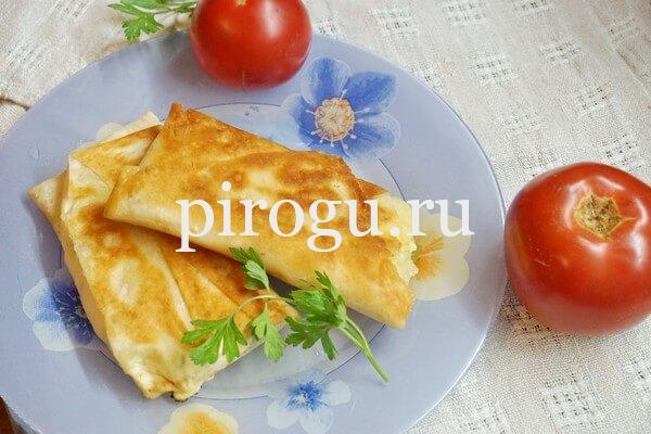 Ленивые хачапури с сыром на сковороде: рецепт с фото