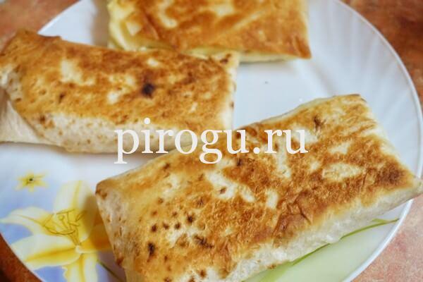 Ленивые хачапури с сыром жаренные
