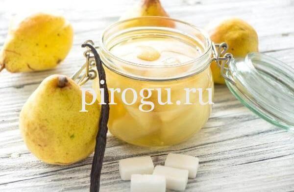 Варенье из груши с сахаром и ванилью